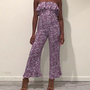 Purple Floral Jumpsuit